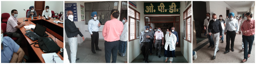 Review Meeting and Visit to health facilities in Districts of the State