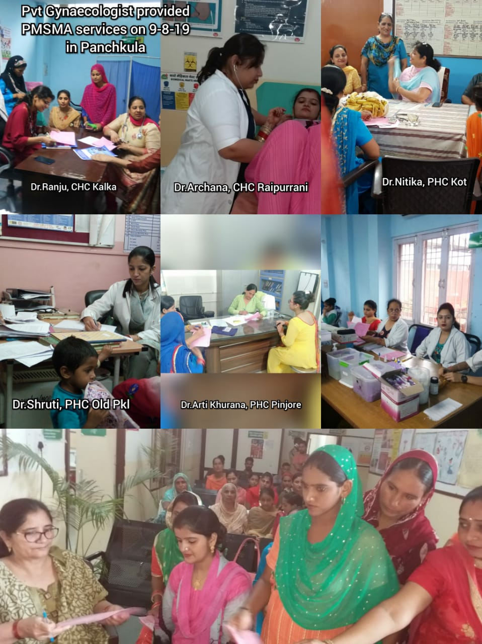 PMSMA Program in various Health facilities in Haryana